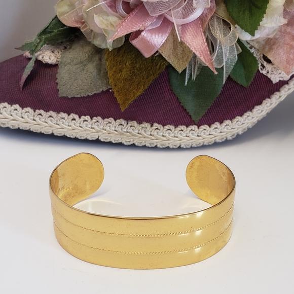 Vintage Monet Gold tone Cuff Bracelet